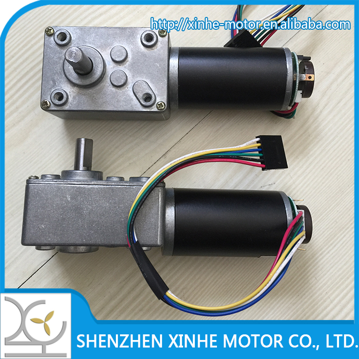 XH-4326  worm gear motor with 12CPR ENCODER