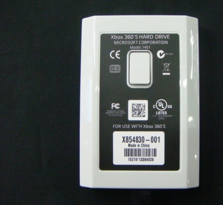 320GB Hard Drive for XBOX360 Slim white2