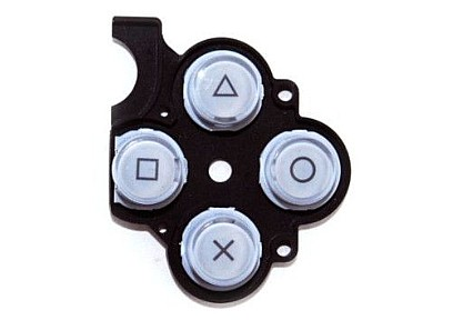 PSP 2000 Slim Button Rubber (Sliver)