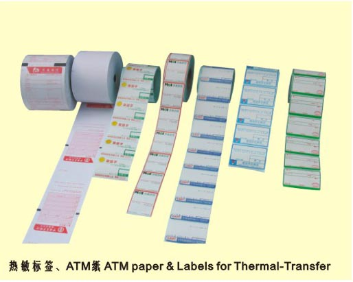 Thermal label, ATM paper