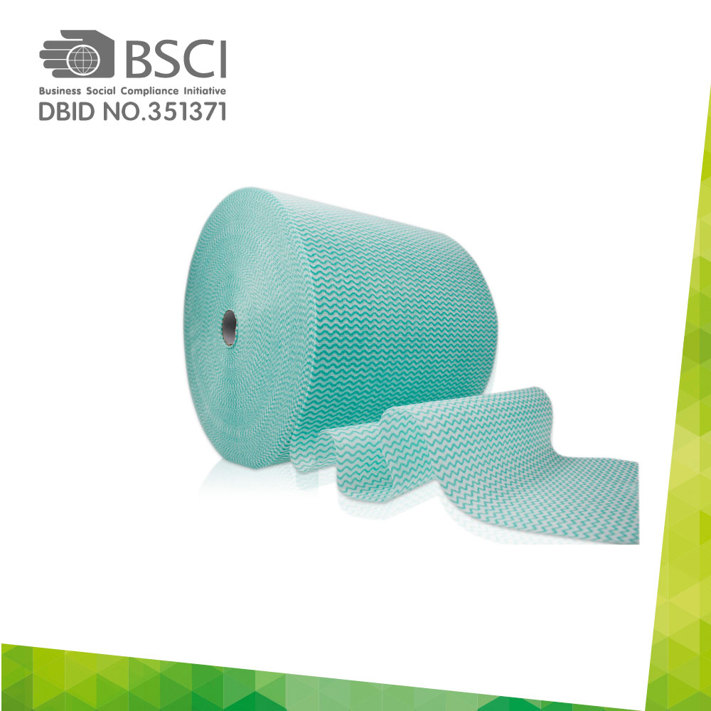 spunlace non-woven cleaning cloth in perforated roll-35