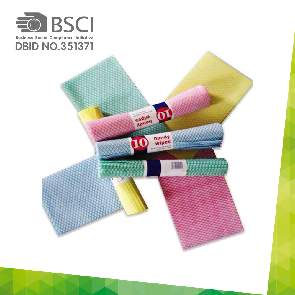 chemical bonding non-woven cleaning cloth-66