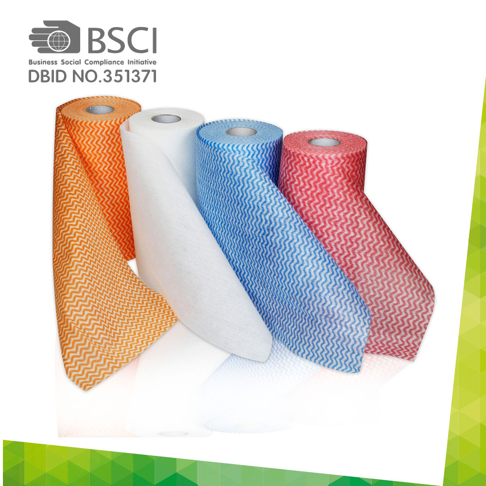 spunlace non-woven cleaning cloth in perforated roll-04