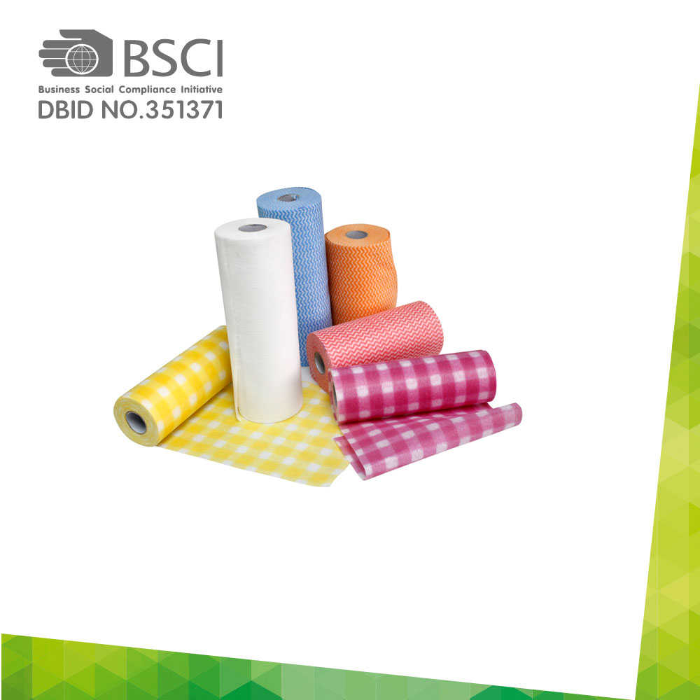 spunlace non-woven cleaning cloth in perforated roll-42