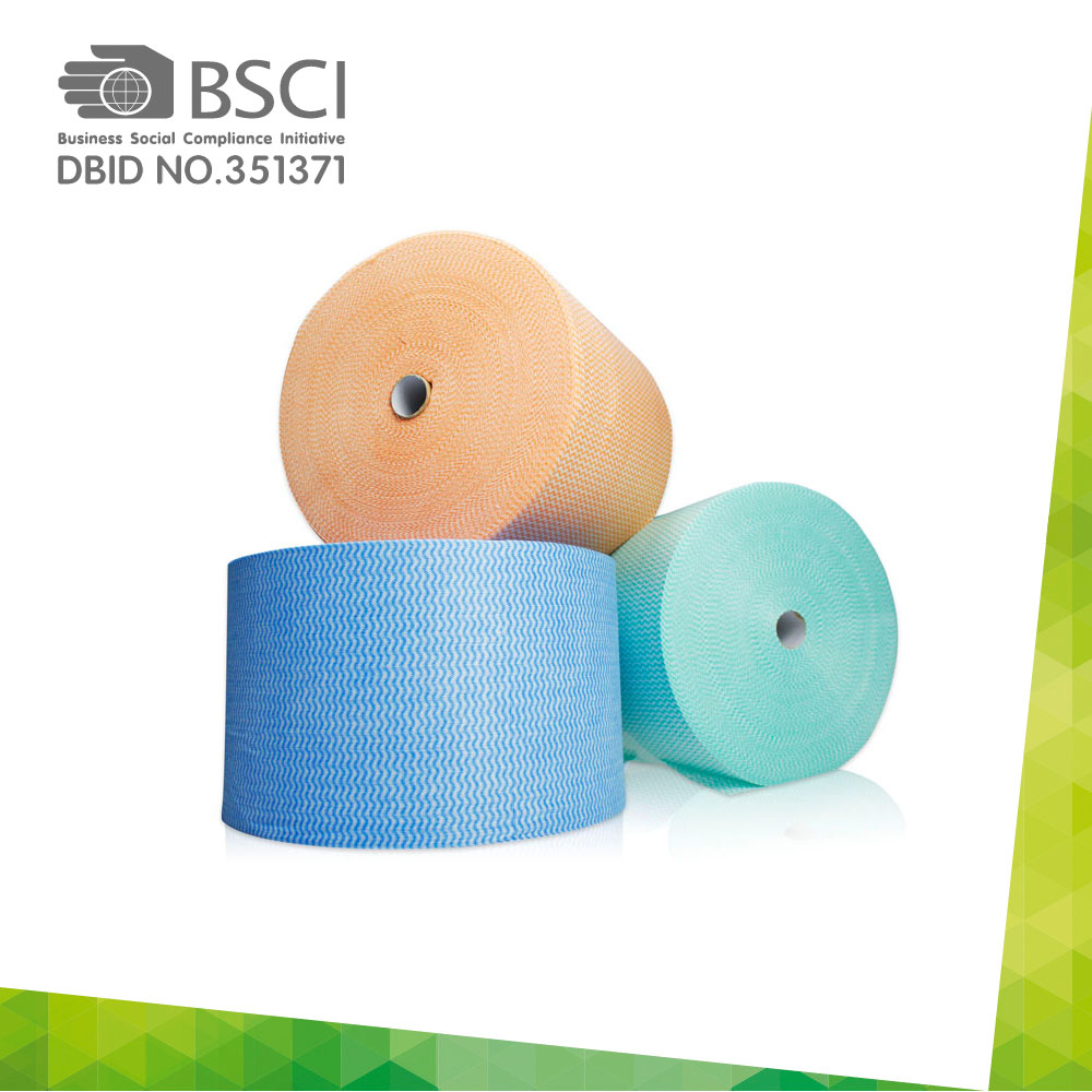 spunlace non-woven cleaning cloth in perforated roll-46