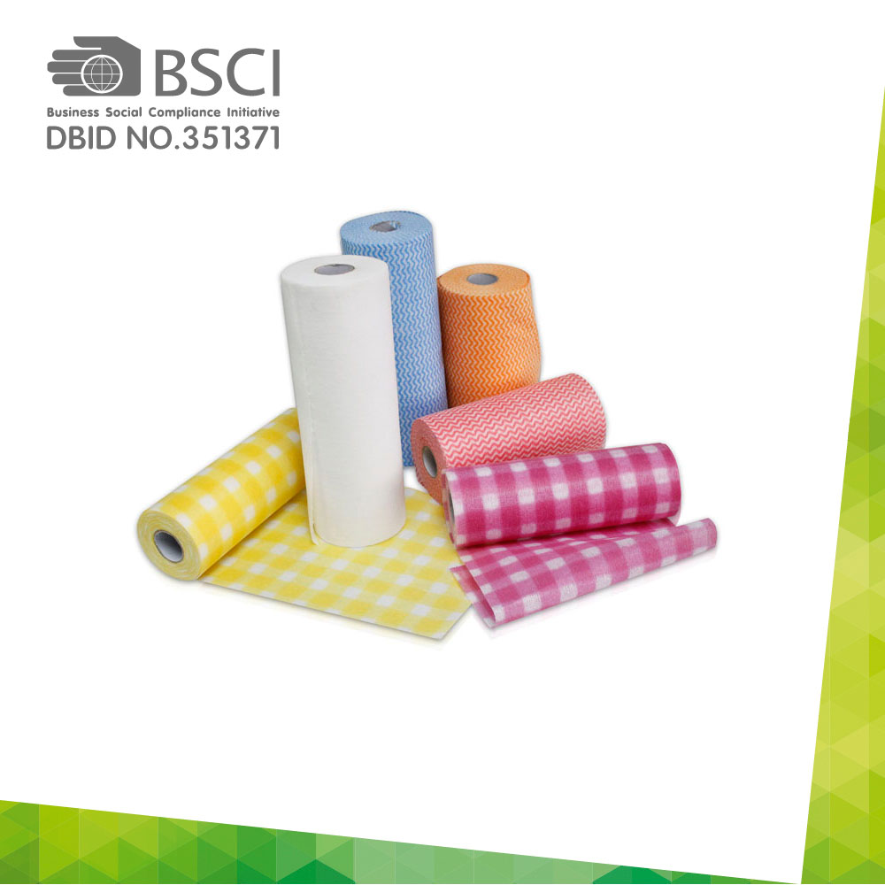 spunlace non-woven cleaning cloth in perforated roll-47
