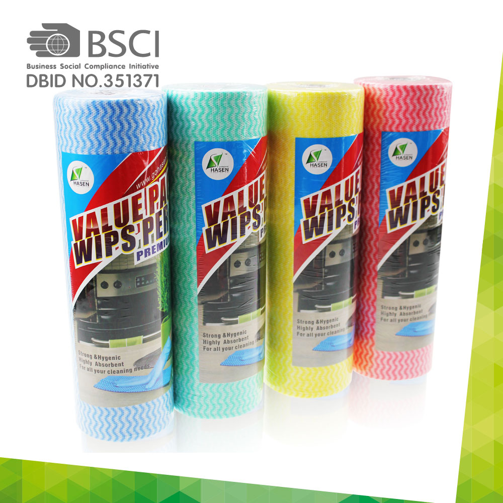 spunlace non-woven cleaning cloth in perforated roll-76