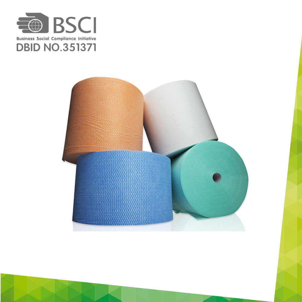 spunlace non-woven cleaning cloth in perforated roll-77