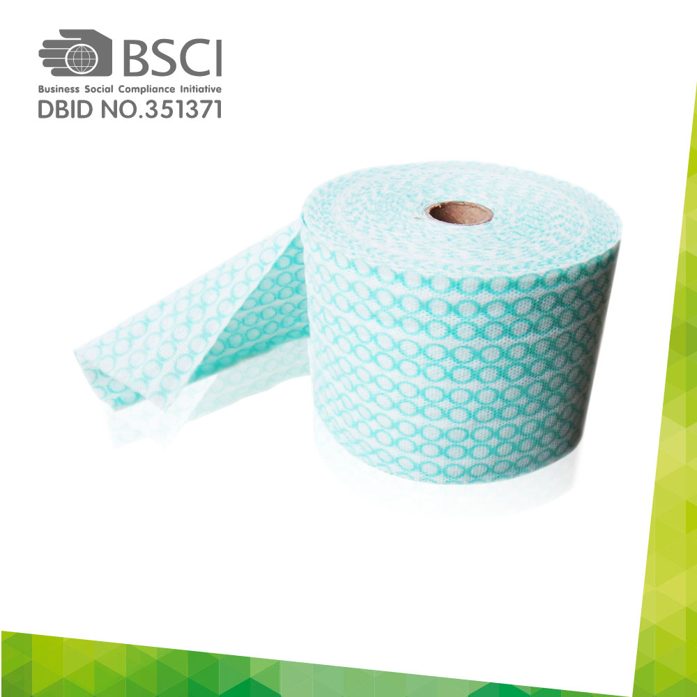 spunlace non-woven cleaning cloth in perforated roll-82