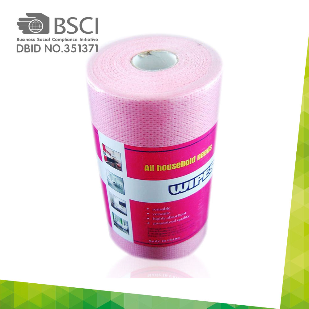 spunlace non-woven cleaning cloth in perforated roll-84