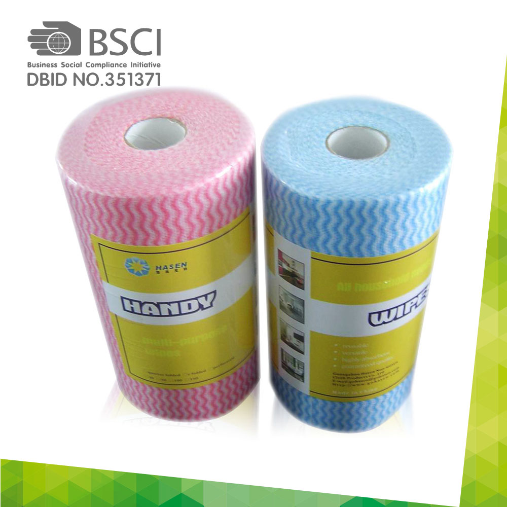 spunlace non-woven cleaning cloth in perforated roll-87