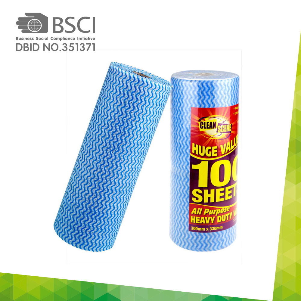 spunlace non-woven cleaning cloth in perforated roll-93