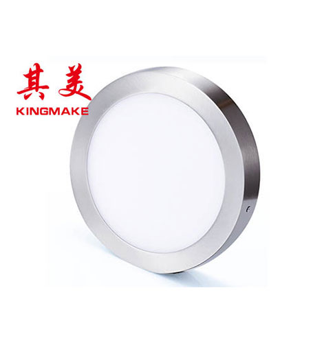 LED panel light-Satin nickel round surface mounted