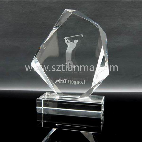 Golf ball trophy award for souvenir