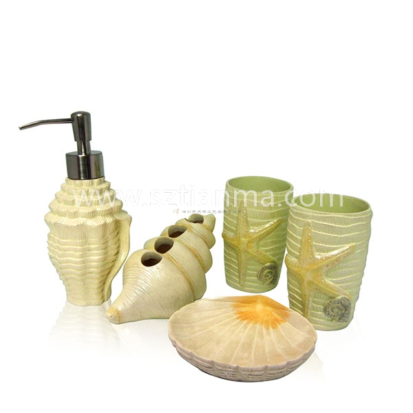 Full set-Shell shape bathroom accessories sets for gifts