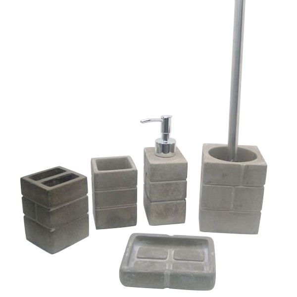 Cement bathroom set