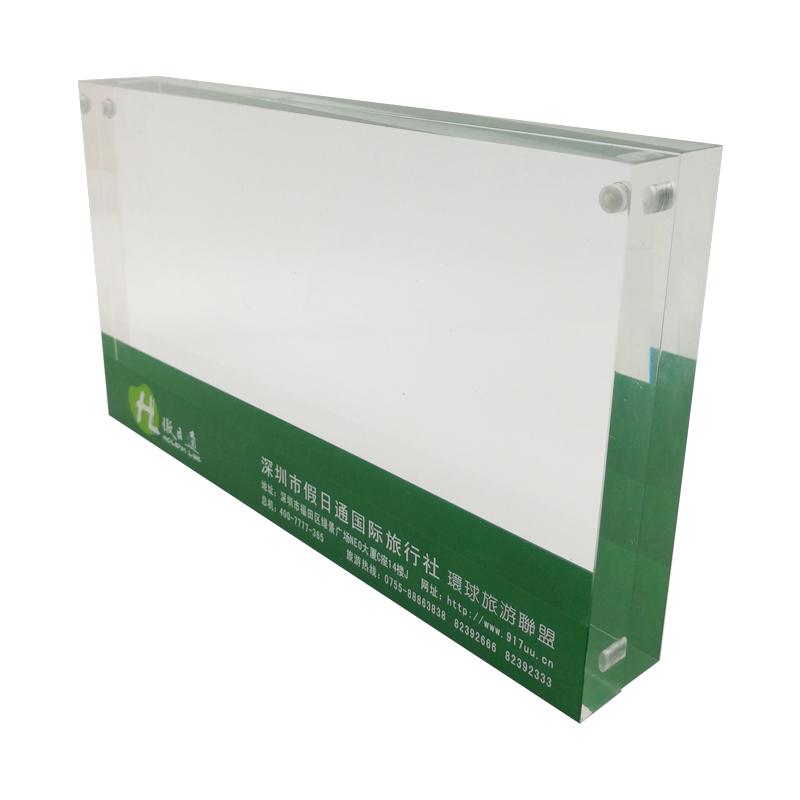 Clear Green Acrylic Picture Frames