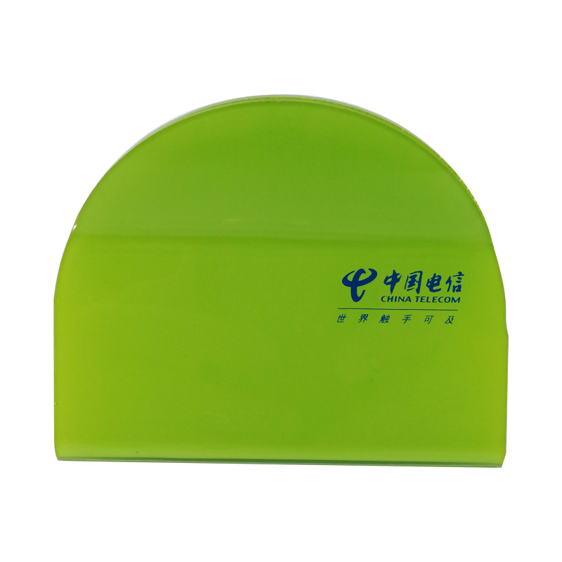 Promotional Apple Green Arc Sign Holder Printing