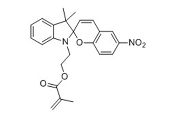 2-(3',3'-dimethyl-6-nitrospiro[chromene-2,2'-indolin]-1'-yl)ethyl methacrylate       CAS:25952-50-5