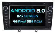 Android 8.0 For PEUGEOT 408 2010-2011 (W2-V5634B)