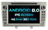 Android 8.0 For PEUGEOT 408 2010-2011 (W2-V5634S)