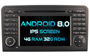 Android 8.0 For MERCEDES-BENZ ML 320/ML 350/GL X164 (W2-V5558)
