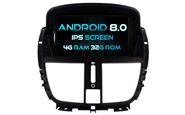 Android 8.0 For PEUGEOT 207/207CC 2007-2014 (W2-V5395)