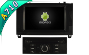 Android 7.1 For PEUGEOT 407 (Black Glossy Frame) (W2-H5588B)