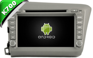 Android 9.1 For HONDA CIVIC 2012 (New Arrival) (W2-K6305)