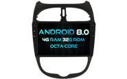 Android 8.0 For PEUGEOT 206 (W2-V5377)