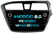 Android 8.0 Deckless For HYUNDAI I20 2015 (For Right Hand Driver) (W2-V5566R)