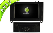 Android 9.0 For PEUGEOT 407 (Black Glossy Frame) (W2-RD5588B)