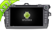 Android 9.0 For TOYOTA COROLLA 2006-2011 (W2-RD7630)