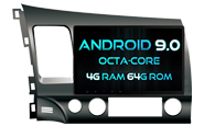 Android 9.0 For HONDA CIVIC 2007-2011 (W2-RVF5327)