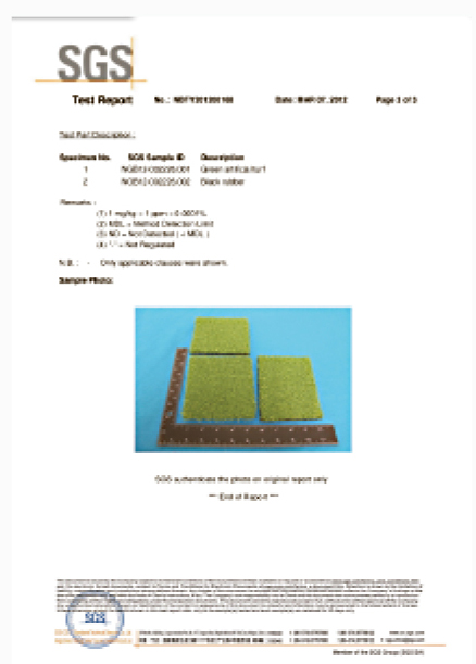 SGS Test Report of Garden Grass
