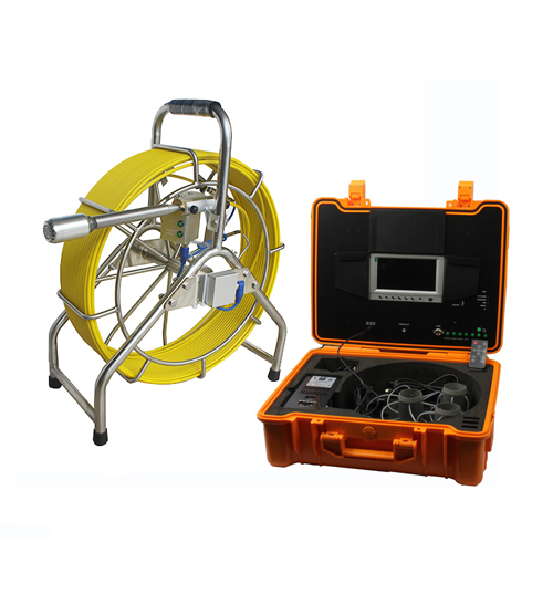 Pipe Inspection System with self leveling camera and 60M push Cable