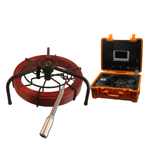 Pipe Drain Sewer Inspection Camera with 60m Cable Ground Reel