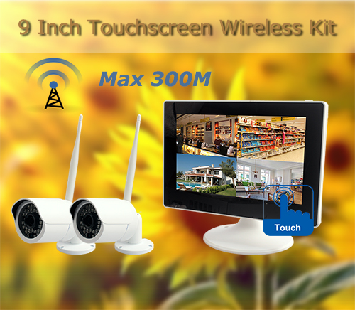 9 Inch Digital Wireless Touch Screen Kit Max 300M