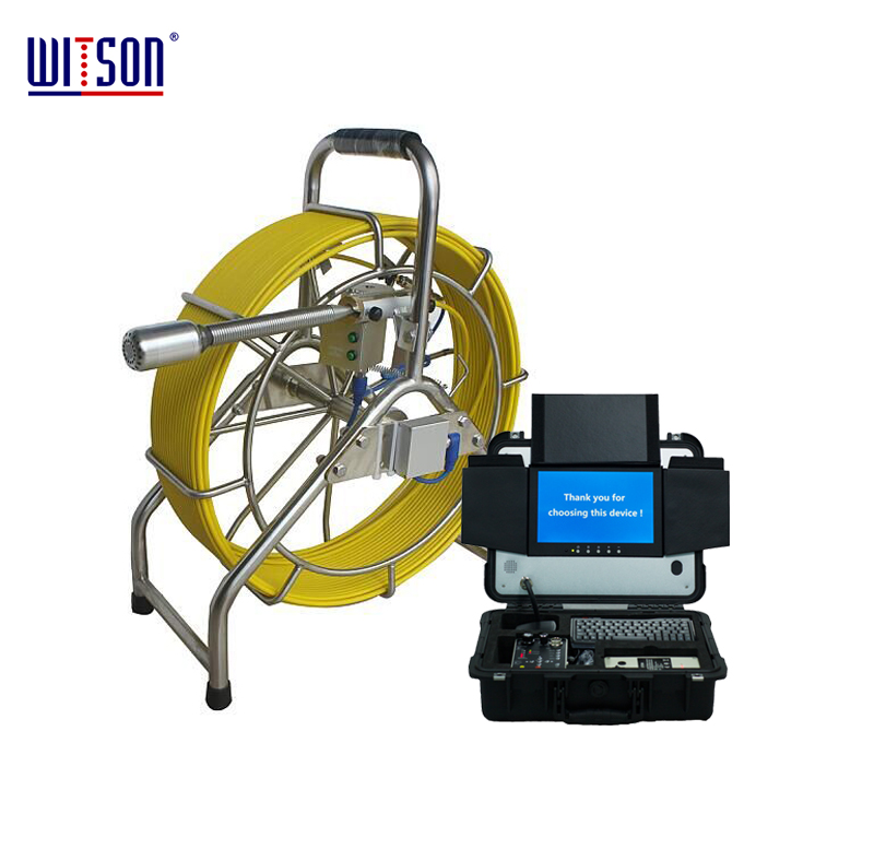 WITSON High Resolution Video Inspection Camera System with 60m Cable for Drain Sewer Pipes