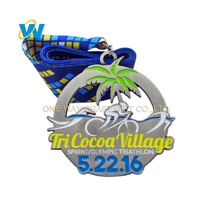 Factory Wholesale Custom Tricocoa Village Sports Metal Medal