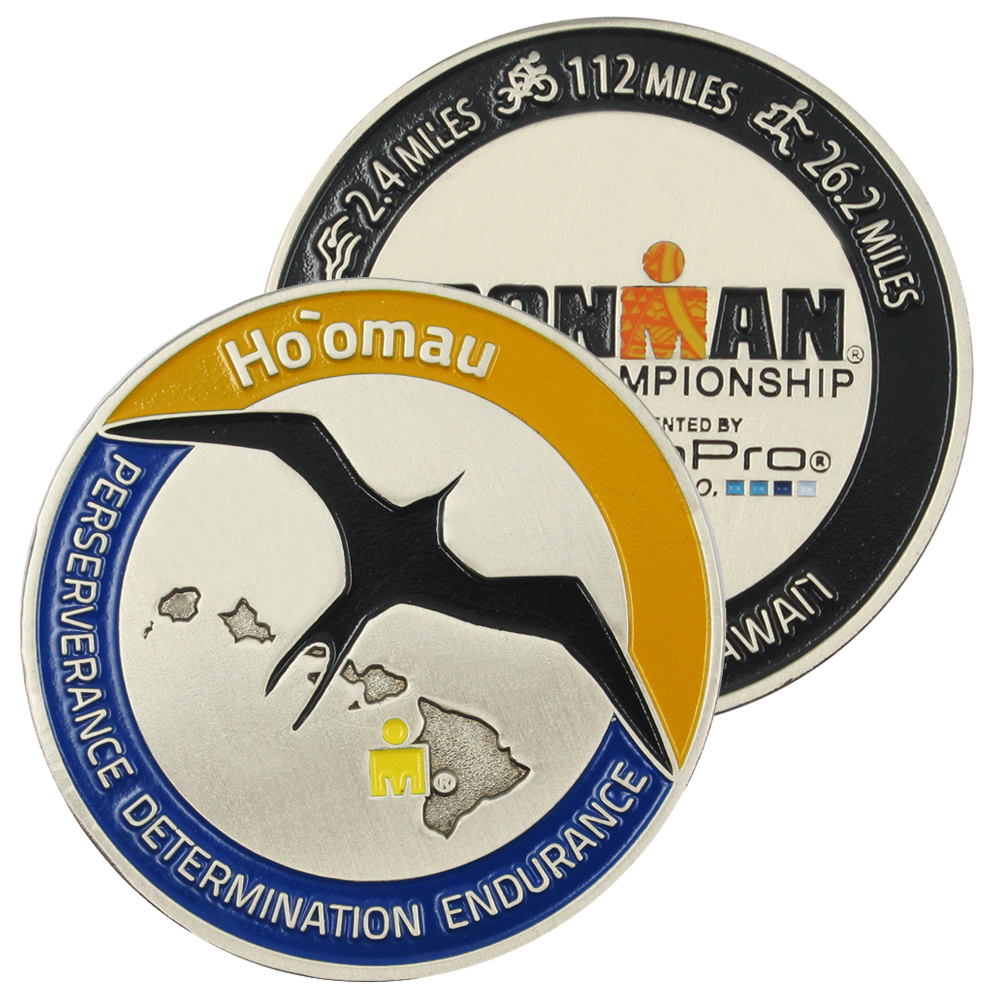Wholesale Metal Coin Custom IRONMAN WORLD CHAMPIONSHIP Coin