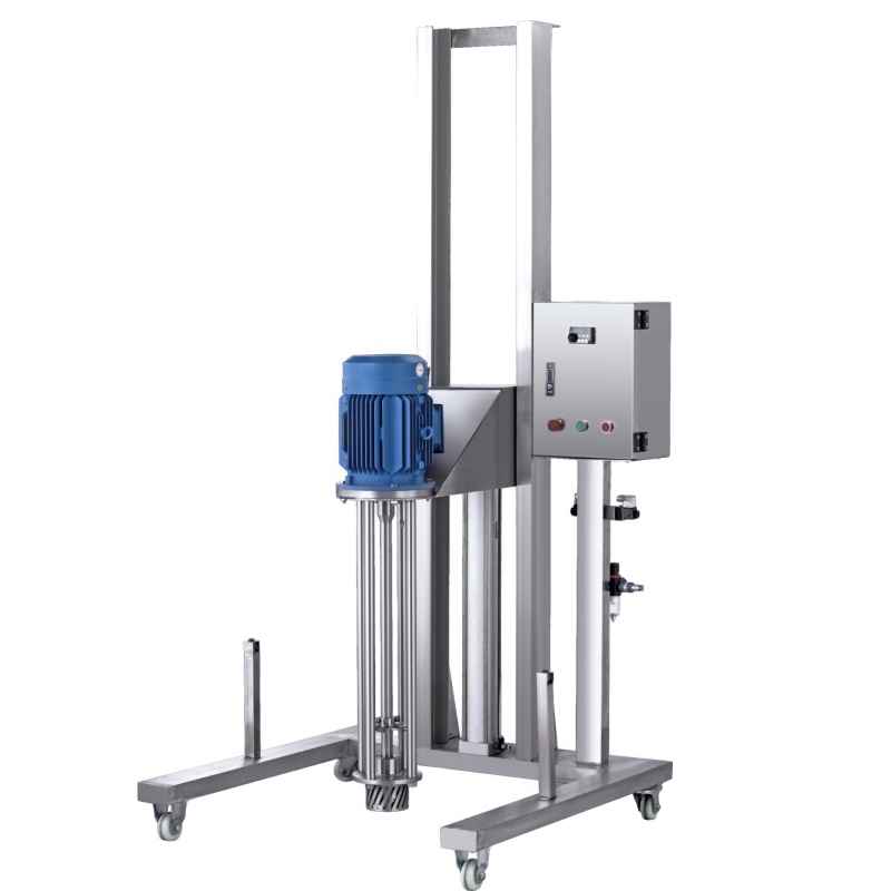Moveable Pneumatic Lifting Homogenizer (Stainless Steel Bracket)