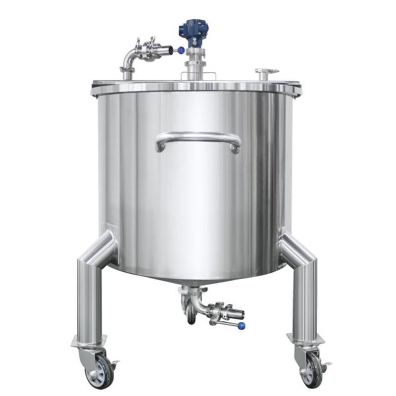 Flat Cover Pneumatic Mixing Tank