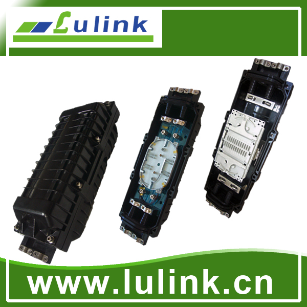 LK10P212-4   Horizontal type Fiber Optic Splice Closure with two inlets/outlets