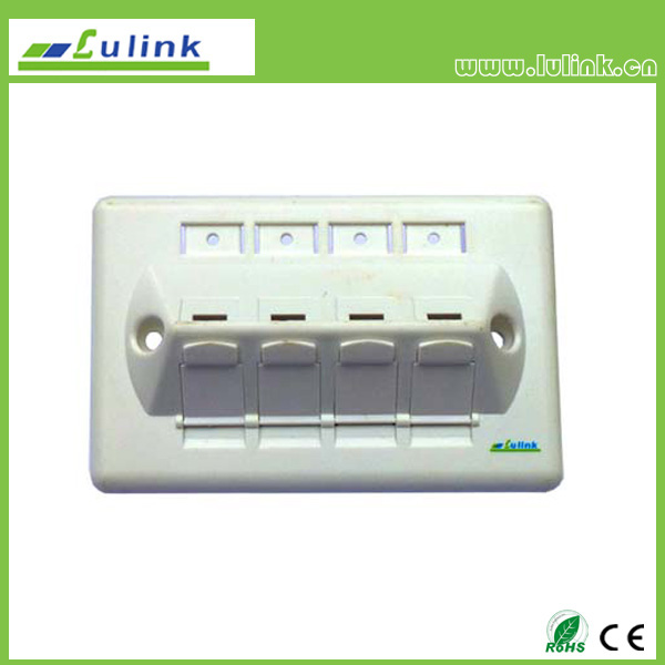 45 Degree 4 Port 120 Faceplate