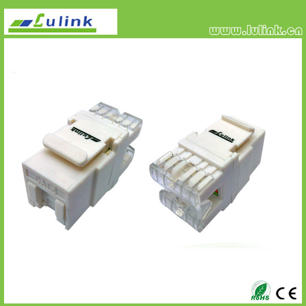 UTP  Cat.6  RJ45 Keystone Jack  180 Degree   with dust proof  dhutter