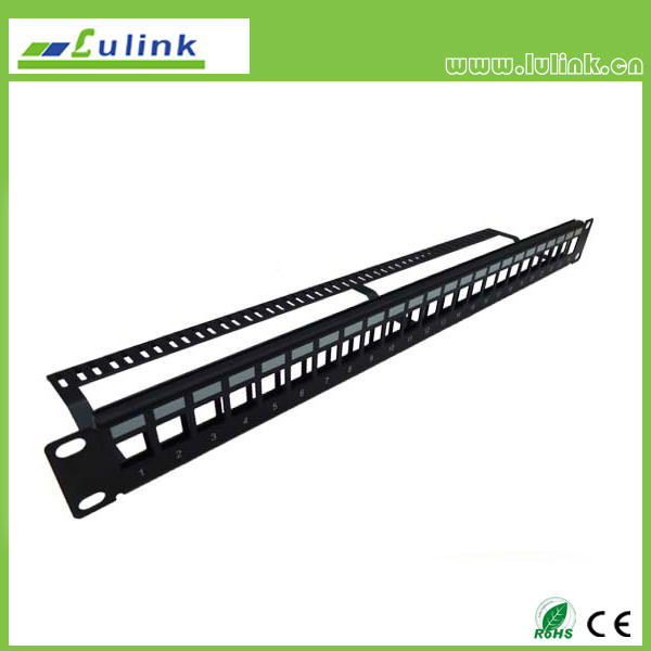 Blank Patch Panel 24port with Bar