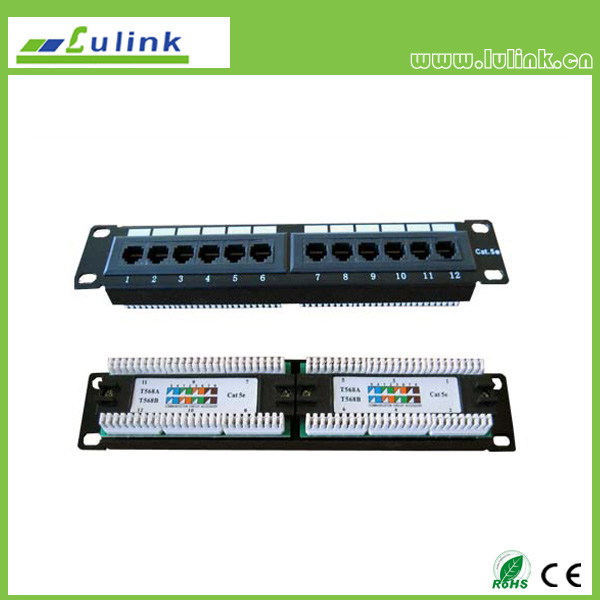 Cat5e UTP 12PORT Patch Panel (Krone/110 End)