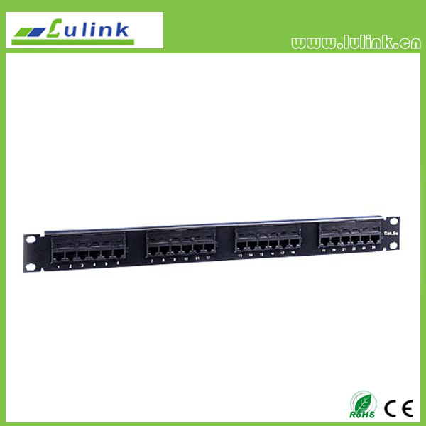 Cat5e UTP 24 PORT Patch Panel (110 End)