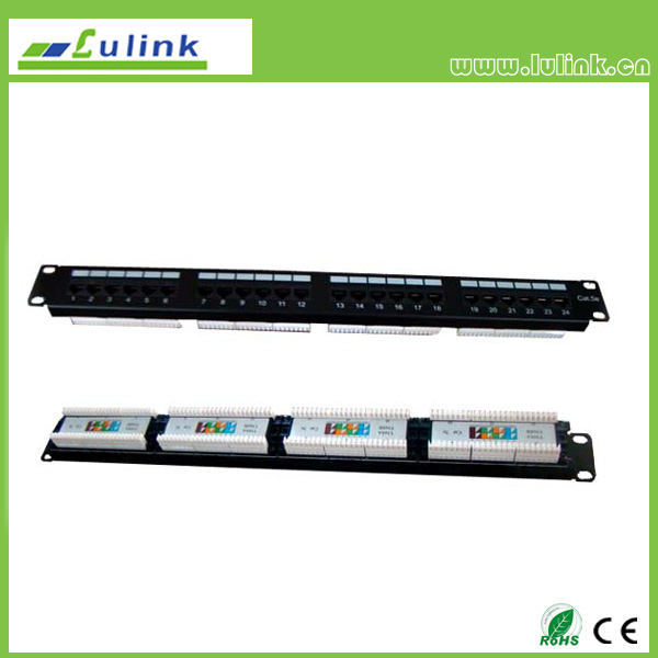 Cat5e UTP 24 PORT Patch Panel (Double USE End)